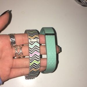 Two small fit bit bands